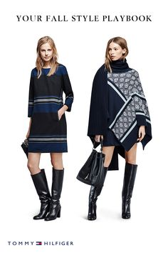 Never go wrong with navy. A sleek dress, jacket or sweater in this classic nautical color is an easy wardrobe refresher for fall. Pair with knee-high leather boots or loafers and you'll be ready for any event, party, or cocktail hour this season.
