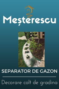 Folosirea unui separator de gazon pentru delimitarea zonelor din gradina.