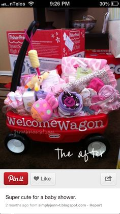 Baby shower - if parents have room to store a wagon for a couple years before baby will need it.