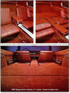 1966 Dodge Charger red interior just like I had in mine.  Ah, the memories....