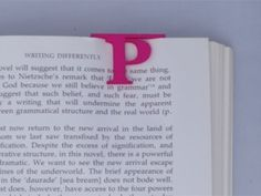 Bookmark Monogram. Initial / Letter P in Pink Strong & Flexible Polished