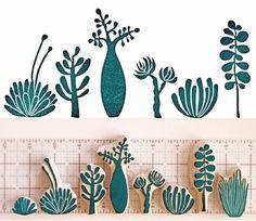 Geninne Zlatkis, Stamps, Linocut, Carve, DIY