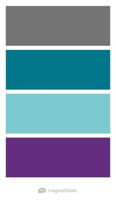 Charcoal, Peacock, Turquoise, and Plum Wedding Color Palette - custom color palette created at MagnetStreet.com
