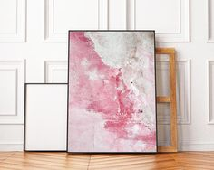 Concrete Wall PRINT Abstract Poster Pink Wall Art