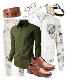 """""""Happy Tuesday"""" by keierica-washington on Polyvore featuring Alexander McQueen, Vitaly, Armani Exchange, LE3NO, Apt. 9, BOSS Hugo Boss, Ray-Ban, men's fashion and menswear"""