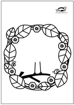 Montessori Activities, Art Activities, Diy And Crafts, Crafts For Kids, Arts And Crafts, Spring Template, Coloring Books, Coloring Pages, Spring Activities