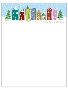 Wintry Neighborhood Christmas Letter