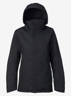 Women's Burton [ak] GORE‑TEX® 2L Embark Jacket shown in drydye® Black