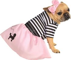Rubie's Pet Costume, Large, 50s Girl Dress -- Trust me, this is great! Click the image. : Costumes for dog