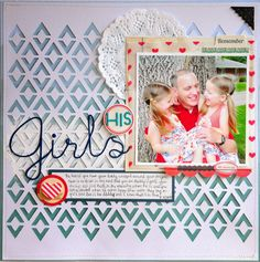 #papercraft #scrapbook #layout.  Jill Cornell