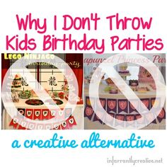 Come read an alternative to throwing a big birthday party
