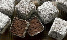 My lamington obsession continues... Dan Lepard's double chocolate lamingtons
