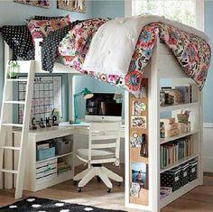 Cute bedroom/desk setup