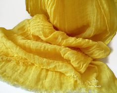 Bright Yellow Ecological Linen Scarf $24 **** Summer Trends **** Summer Fashion ****