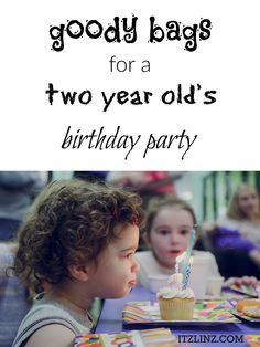 Goody Bags for a Two Year Old's Birthday Party   Toddler Party Favor Ideas