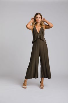 The Zoe jumpsuit by Leave Her Wilder. Bridesmaid gowns available online and ship internationally Color Feel, Fall Skirts, No Frills, Snug Fit, Jumpsuit, How To Wear, Outfits, Collection, Bridesmaid Gowns