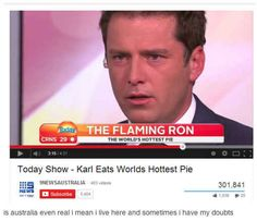 On morning TV. | 29 Times Australians Were The Realest On Tumblr