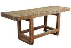 Industrial Workbench Kitchen Island Table