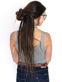 half+updo+with+half+dreads