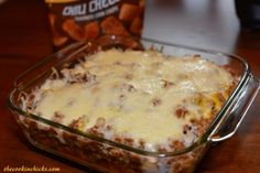 Taco Bake This cheesy taco bake comes together in no time and is a family favorite! Perfect for Taco night! 1 lb ground beef of turkey 1 package taco seasoning or 3 tbsp homemade taco seasoning (see recipe below) 2/3 cup water chili cheese fritos 1/2 can cheddar cheese soup 1/4 cup milk 1 cup mozzarella cheese, shredded Toppings desired: salsa, sour cream, onion, tomato, avocado, etc Brown beef or turkey over medium highh heat until no longer pink. Drain fat and add in the taco seasoning and…