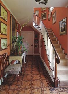 painted wood floors and gorgeous wall color   image from thescoutguide.com