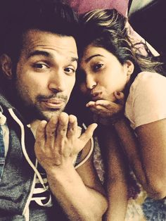 Rithvik Dhanjani and Asha Negi. engaging in #PDA. #Bollywood #Fashion #Style #Beauty #Handsome #Selfie