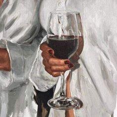 art, painting and details image on We Heart It Verre A Vin Design, Art Sketches, Art Drawings, Dibujos Zentangle Art, Arte Sketchbook, Wine Art, Aesthetic Art, White Aesthetic, Art Plastique