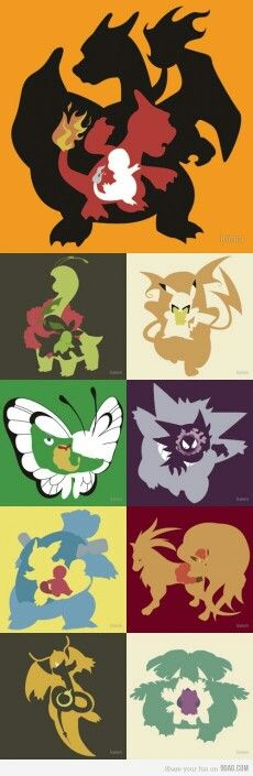 Pokemon, evolutions, cool, Charmander, Bulbasaur, Chikorita, Pikachu, Caterpie, Ghastly, Squirtle, Vulpix, Dragonair; Pokemon