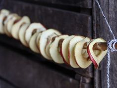 These dried apple rings make a lovely snack for children (and adults), or arrange the pretty rings over the top of a cake! Healthy Meals For Kids, Kids Meals, Healthy Recipes, Dried Apple Rings, Abel And Cole, Fruit Skewers, Dried Apples, Easy Eat, Samos