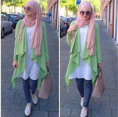 Spring Hijab trends mix and match http://www.justtrendygirls.com/hijab-trends-mix-and-match/