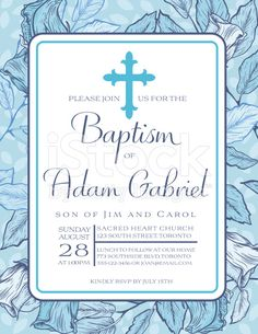 Baptism invitation boy baptism invitations free invitation for baby boy baptism or christening invitation template royalty free stock vector art stopboris Image collections