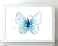 Butterfly Watercolor Painting  Giclee Art print  Animal