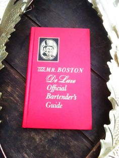 Vintage 1967 Old Mr Boston De Luxe Official Bartender's Guide / Recipe Drink Book / Bar Cart Book / Foodie Gifts / Bartender Gifts by JulesCristenVintage on Etsy