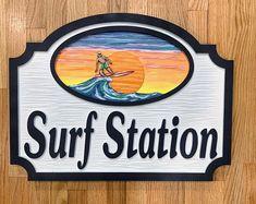Surf Station, Cottage Names, Surfing, Etsy Seller, Clock, Creative, Watch, Surf, Clocks