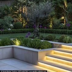 46 antique DIY ideas to make garden stairs and steps - Hinterhof Garten diy - Best Garden Ideas Modern Landscape Design, Modern Garden Design, Modern Landscaping, Backyard Landscaping, Landscape Edging, Backyard Designs, Landscaping Retaining Walls, Contemporary Landscape, Retaining Wall Gardens