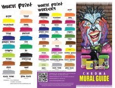 1000 images about color charts on pinterest color for Chroma mural paint