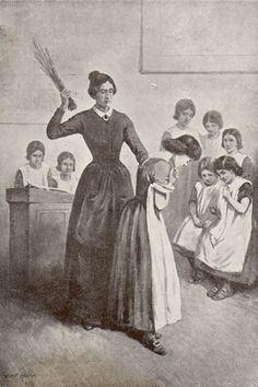 Jane Eyre E. Stuart Hardy, 1904: Cruelty at Lowood School.