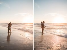 Alicia and Andy's sweetly simple engagement session on Windansea Beach in San Diego, California. Photos by: Studio Sequoia Beach Engagement Photos, Engagement Session, San Diego Beach, La Jolla, California, Studio, Simple, Water, Outdoor