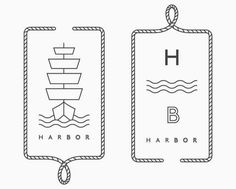 Simple Nautical Logo More - Graphic Files Identity Design, Graphic Design Branding, Logo Design, Design Design, Print Design, Design Ideas, Branding And Packaging, Logo Branding, Packaging Design