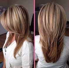 This season has brought a lot of new designs to long straight hair. Like the tre… This season has brought a lot of new designs to long straight hair. Like the trendy short hairstyle last year, we can also have an asymmetric cut for long hair. Hair Styles 2016, Medium Hair Styles, Short Hair Styles, Hair Medium, Hair Styles Long Layers, Long Layered Hair, Long Hair Cuts, Layered Bobs, Long Straight Layers