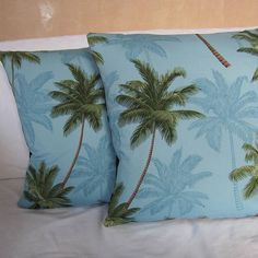 Palm Trees Cushion Cover by twentysevenpalms, the perfect gift for Explore more unique gifts in our curated marketplace. Tropical Design, Tropical Paradise, Black Backgrounds, Palm Trees, Personalized Gifts, Unique Gifts, Vibrant, Cushions, Tapestry