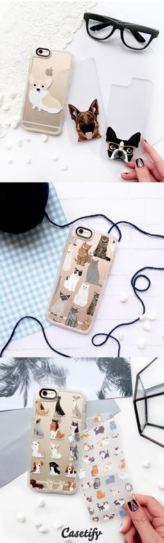 Most favourite Pet Lovers collection iPhone 6 protective phone case designs. For the love of your furry friends!  Cats? Corgi? Bulldogs? Come and have a look of our pet phonecase designs! | Click through to see more iPhone phone case idea >>>  https://www.casetify.com/collections/pet_lovers | @casetify