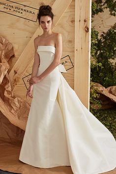 Wedding gown by Carolina Herrera.