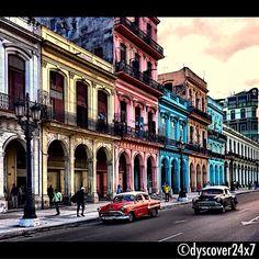 Colonial Colours - Havana, Cuba Havana Cuba, Colonial, Street View, Colours, Travel, Viajes, Destinations, Traveling, Trips