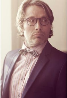 "079c0d690866 Mads Mikkelsen in ""Cutler   Gross"" Stylish Eyewear - Photos by  Poul Stig  Briller  Luxury Eyewear Boutique  on May 2010 in Copenhagen"