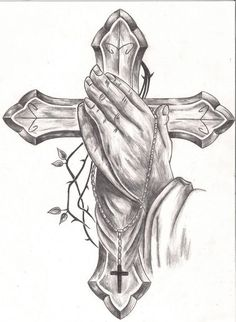 Cross Tattoo Drawings Praying Hands Tattoos Designs Ideas And Meaning Tattoos Fo. Cross Tattoo Drawings Praying Hands Tattoos Designs Ideas And Meaning Tattoos For You. Cross Tattoo For Men, Cross Tattoo Designs, Cross Tattoos, Best Tattoo Designs, Cross Designs, Hand Tattoos, Body Art Tattoos, Cool Tattoo Drawings, Pencil Drawings