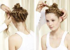 Tresse couronne : tuto coiffure etape 3