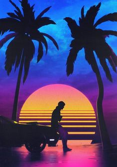 Early Summer by Dániel Taylor : outrun Neon Aesthetic, Aesthetic Images, Aesthetic Wallpapers, New Retro Wave, Retro Waves, Wallpaper Space, Retro Wallpaper, Vaporwave Wallpaper, Photo Wall Collage