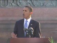 Rede von Barack Obama an der Siegessäule in Berlin am 2008