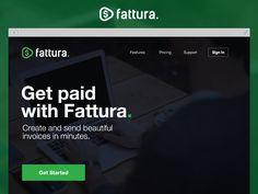 Fattura Invoices Landing Page by Red Jasper #landingpage #design #app #ui #ux #interface